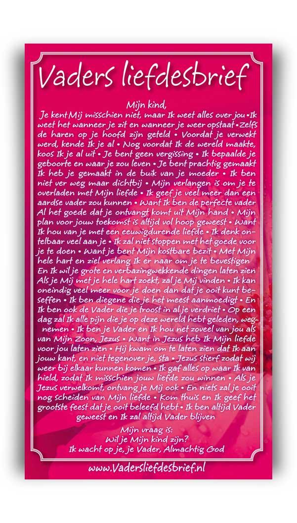 Kaarten van Vaders liefdesbrief